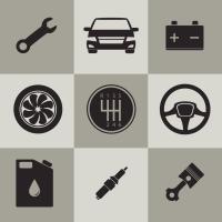 Automobile icons set