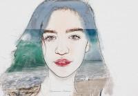 портрет девочки - море