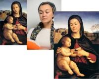 фотомонтаж Мадонна с ребёнком