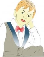 портрет мальчика(вектор)