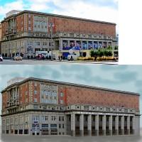 ретушь здания