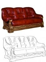 эскиз дивана (вектор)