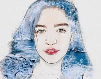 портрет девочки - зима