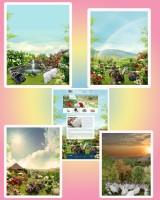 коллажи, собранные из разных фотографий