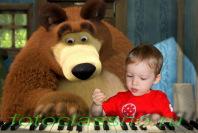 фотомонтаж Маша и медведь