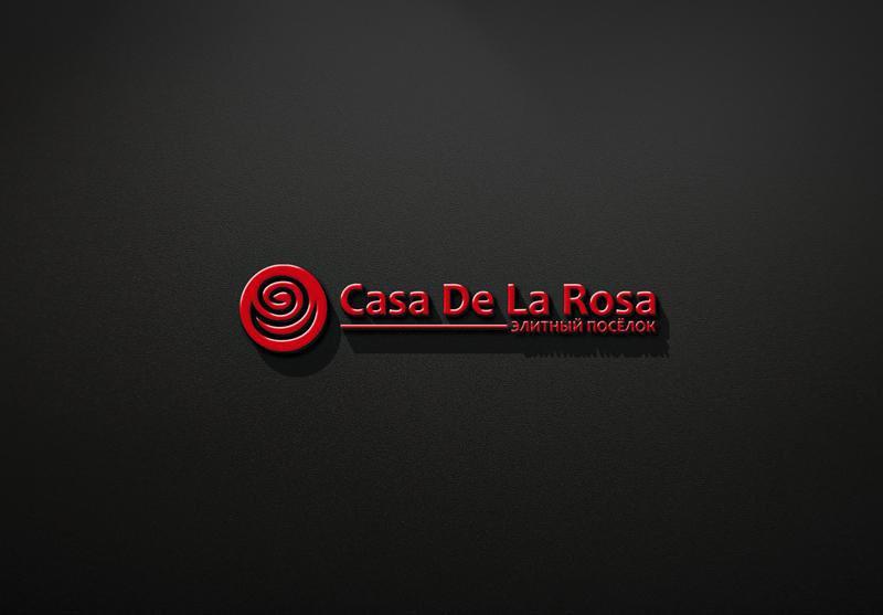 Логотип + Фирменный знак для элитного поселка Casa De La Rosa фото f_3465cd2be5d1d50b.jpg