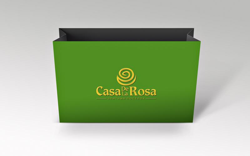 Логотип + Фирменный знак для элитного поселка Casa De La Rosa фото f_6165cd2dc04aaef7.jpg