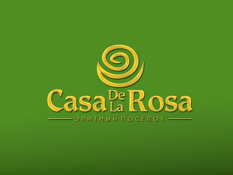 Логотип + Фирменный знак для элитного поселка Casa De La Rosa фото f_7725cd2dc0881eb9.jpg