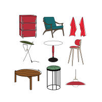 Иконки для каталога мебели  (+3 внутри)