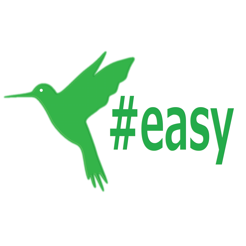 Разработка логотипа в виде хэштега #easy с зеленой колибри  фото f_0895d4e520bedbff.png