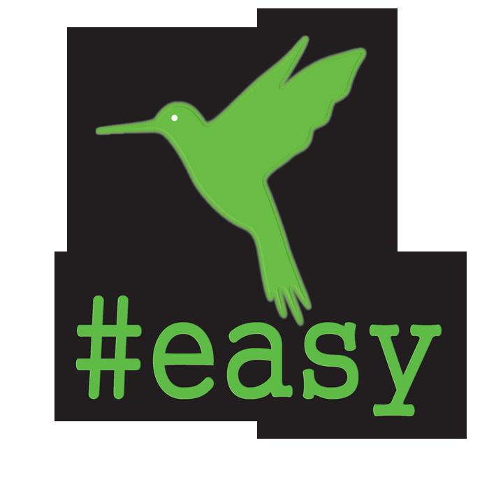 Разработка логотипа в виде хэштега #easy с зеленой колибри  фото f_1915d4e51fadd278.png