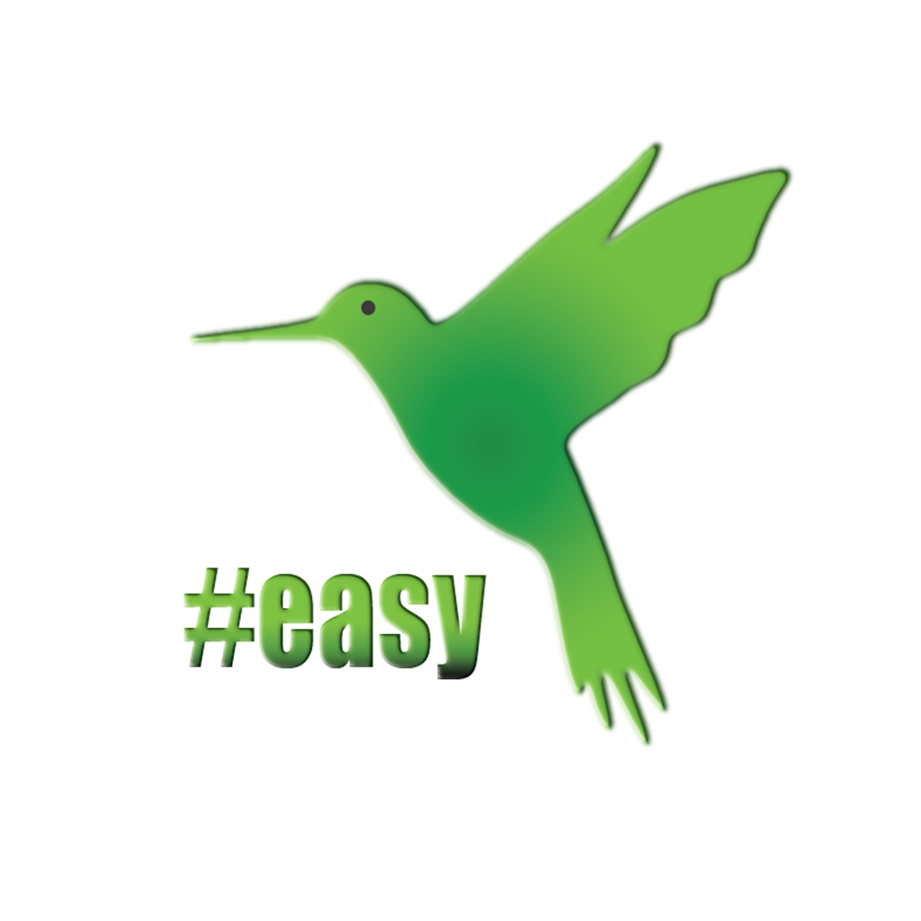 Разработка логотипа в виде хэштега #easy с зеленой колибри  фото f_2725d4e5181d0fd9.png