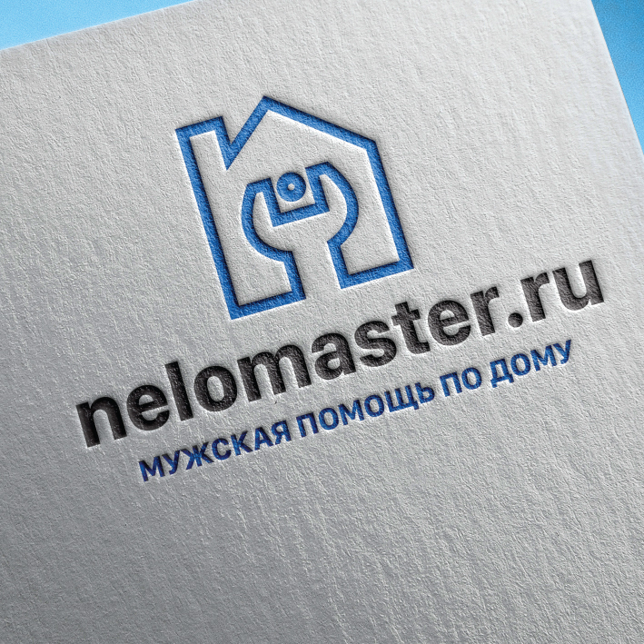 """Логотип сервиса """"Муж на час""""=""""Мужская помощь по дому"""" фото f_9955dc321683e8b8.jpg"""