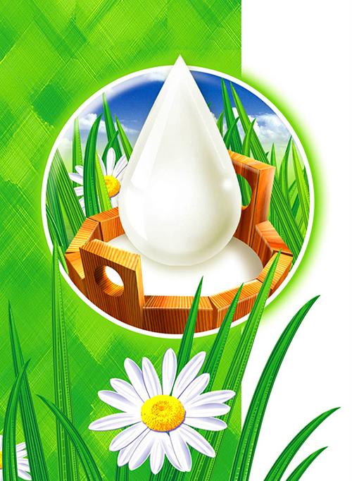 Ilustration For Fresh Milk Pack