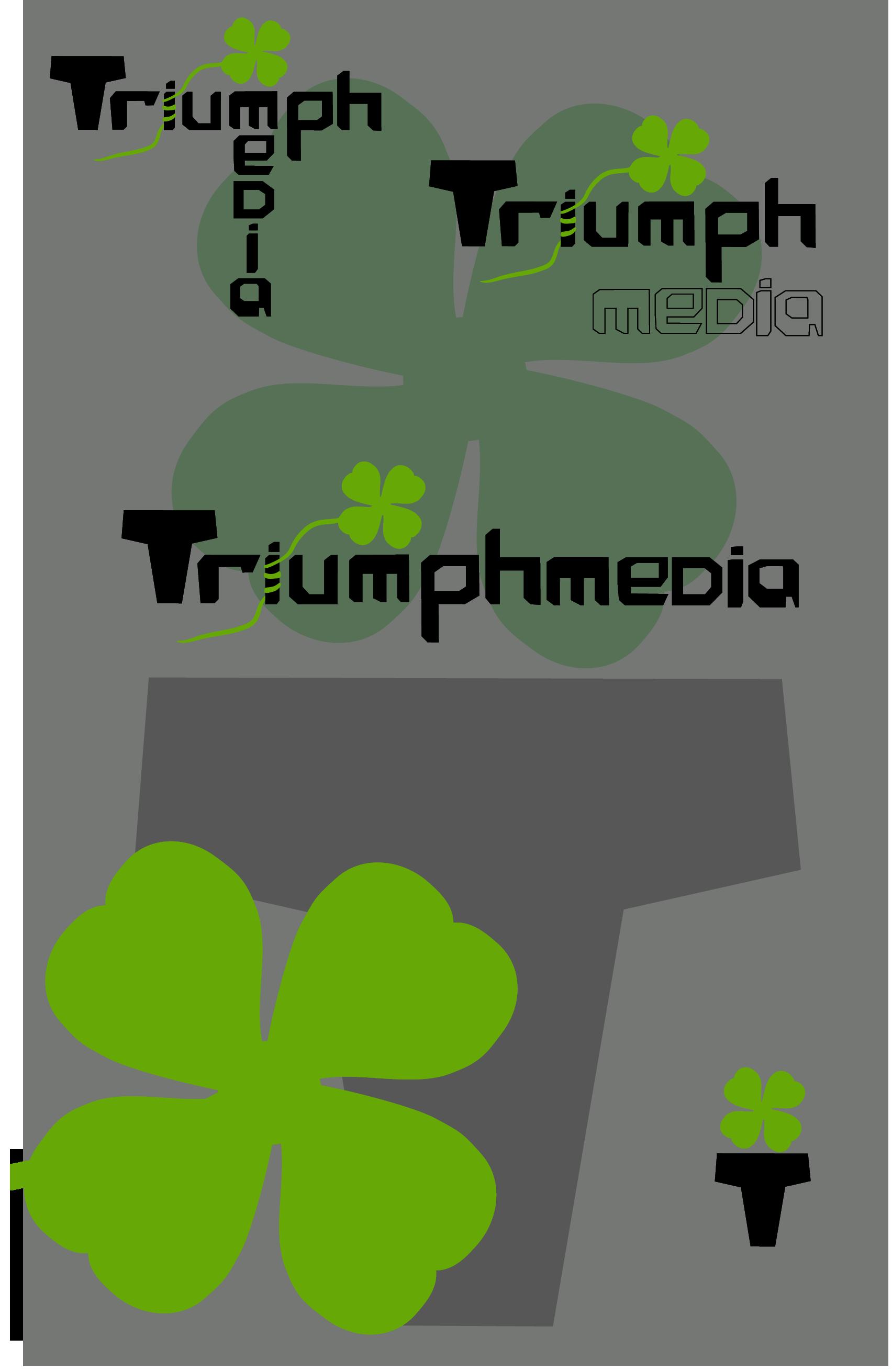 Разработка логотипа  TRIUMPH MEDIA с изображением клевера фото f_50743e28d4e91.png