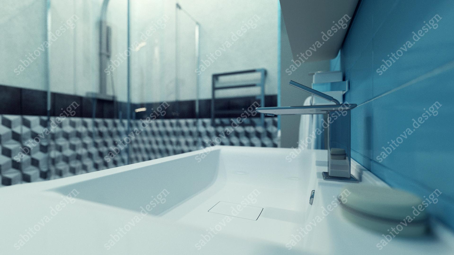 Однокомнатная квартира в ЖК Балтийская Жемчужина - дизайн интерьера и визуализация