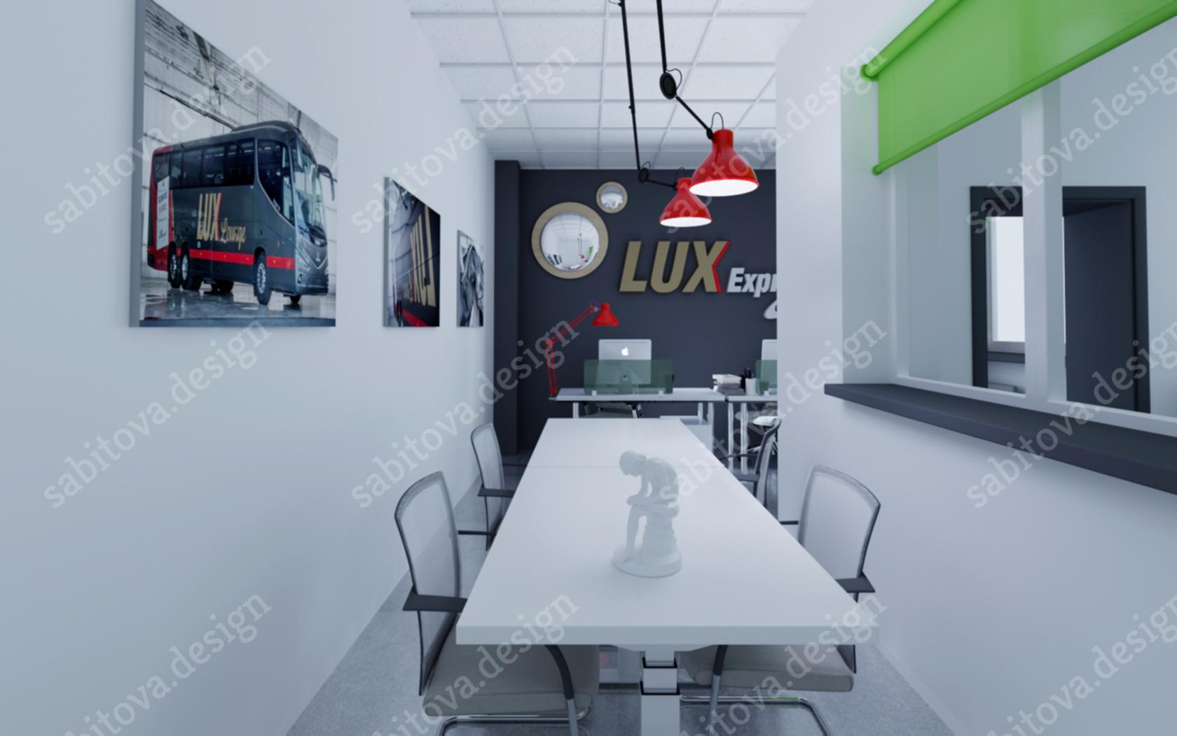 Офис Lux Express в СПб - дизайн интерьера и визуализация