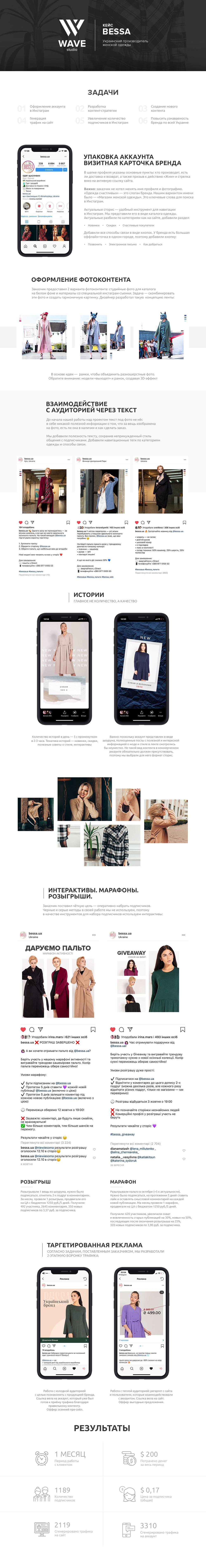 Bessa | Продвижение производителя женской одежды в Instagram
