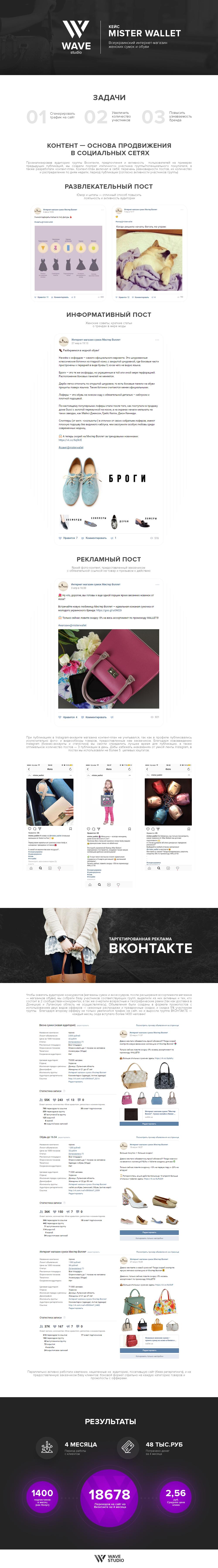 Mr Wallet| Продвижение интернет-магазина женских аксессуаров Вконтакте