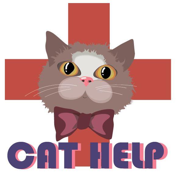 логотип для сайта и группы вк - cat.help фото f_34559db315d05354.jpg