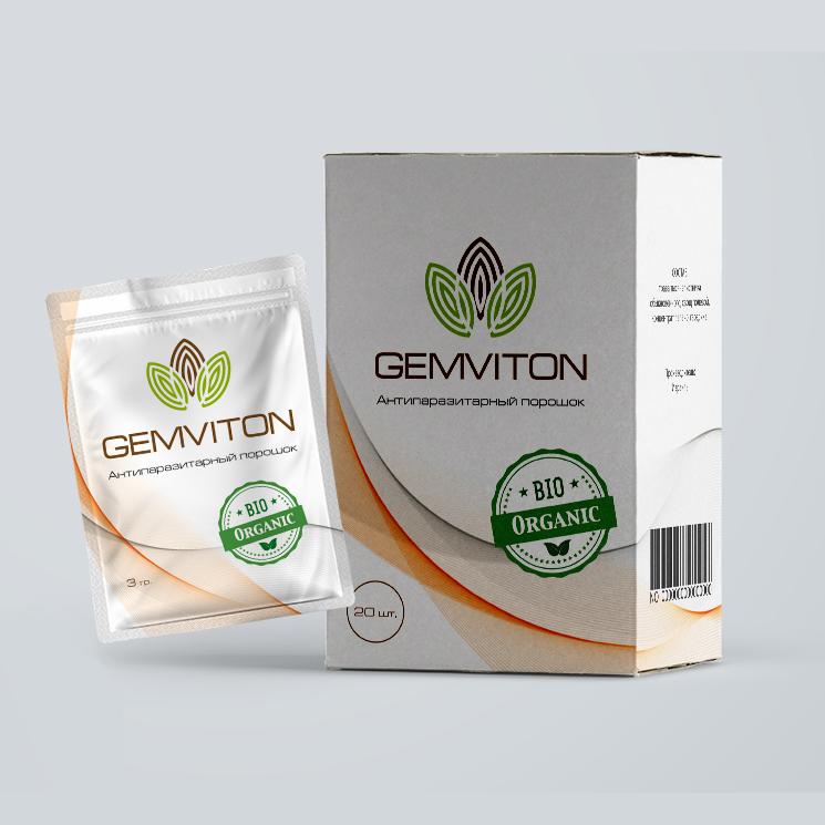 Дизайн упаковки бада «Gemviton»