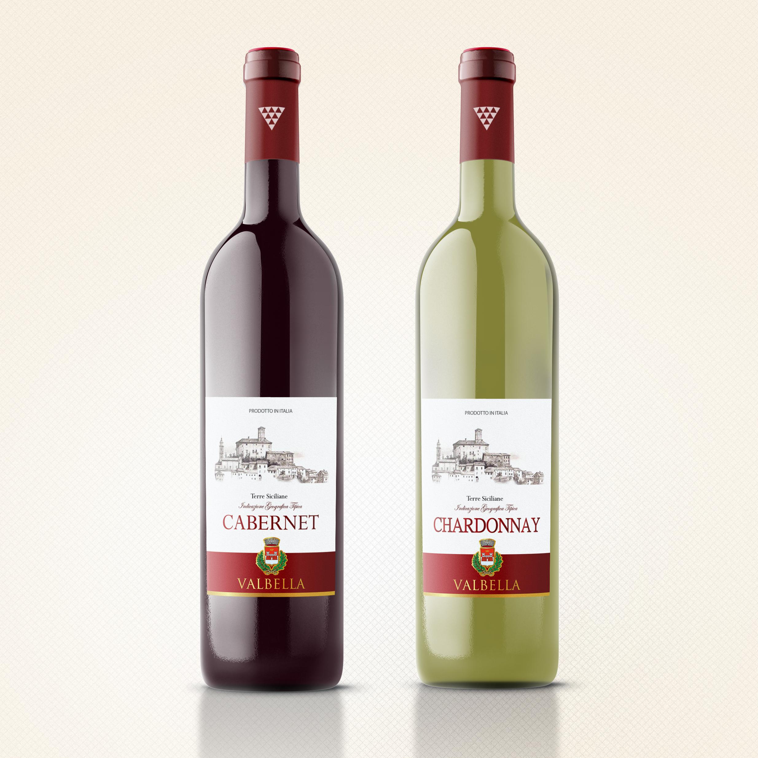 Этикетка на вино «Valbella»