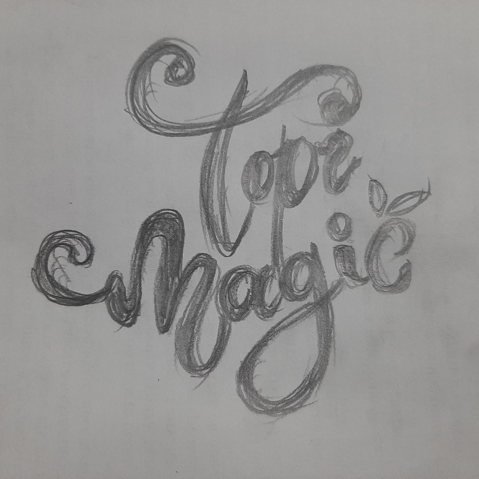 Логотип и этикетка для сиропа «Topimagic»