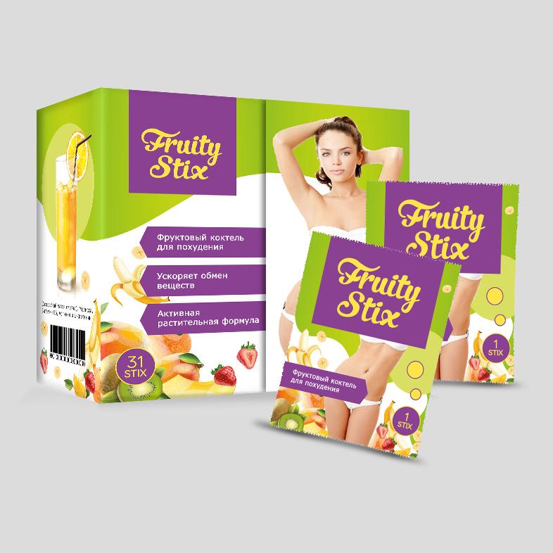 Дизайн упаковки бада «Fruity Stix»