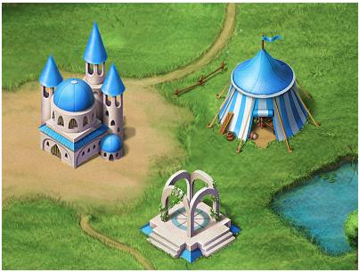 Castle + Temple + Market