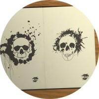 Эскизы skull paint spot