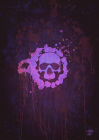 skull paint spot