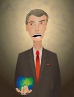 Карикатура - политик