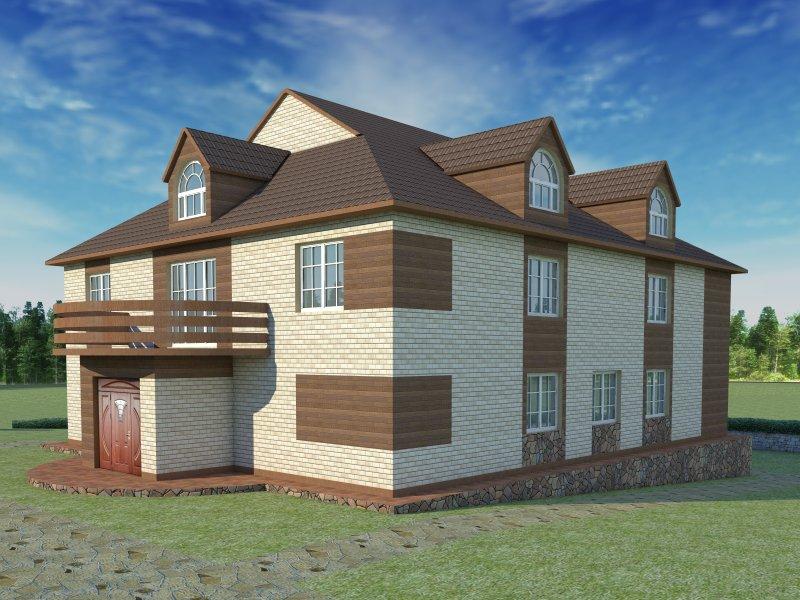 Архитектурный проект фасада коттеджа фото f_22254b7e47783c95.jpg