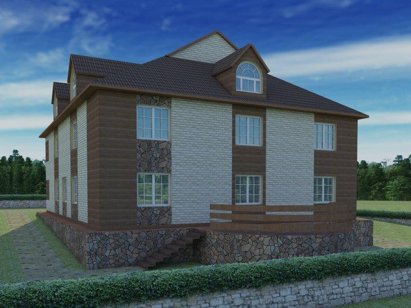 Архитектурный проект фасада коттеджа фото f_26654b7e49ebfd78.jpg
