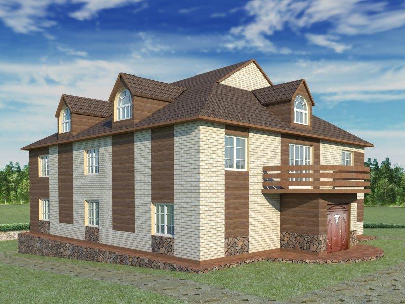 Архитектурный проект фасада коттеджа фото f_38454b7e4f7e5530.jpg