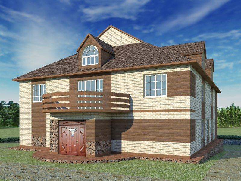 Архитектурный проект фасада коттеджа фото f_57754b7e51c6246a.jpg
