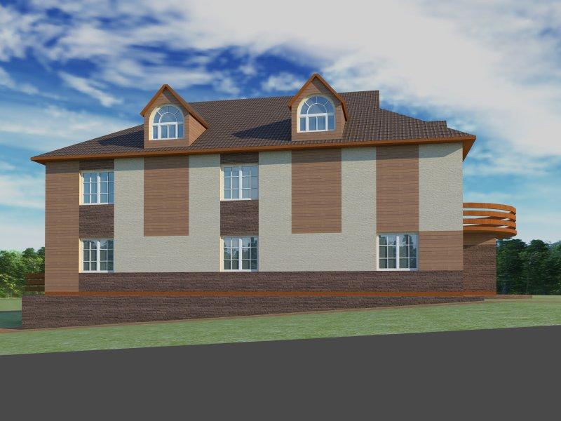 Архитектурный проект фасада коттеджа фото f_64854b7e5a7445d9.jpg