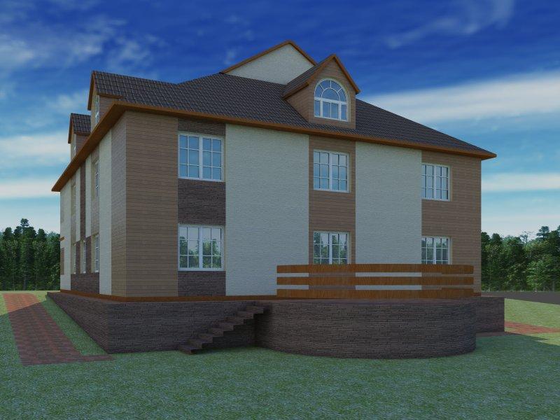 Архитектурный проект фасада коттеджа фото f_79954b7e578387b1.jpg