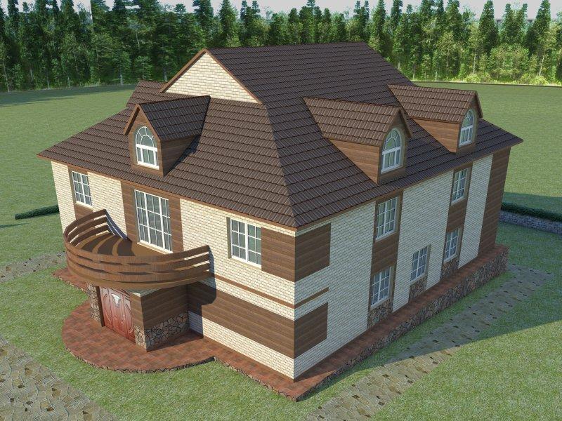Архитектурный проект фасада коттеджа фото f_94454b7e551d65dc.jpg