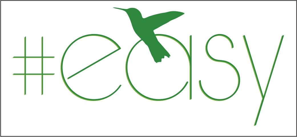 Разработка логотипа в виде хэштега #easy с зеленой колибри  фото f_2935d519f51407d4.jpg