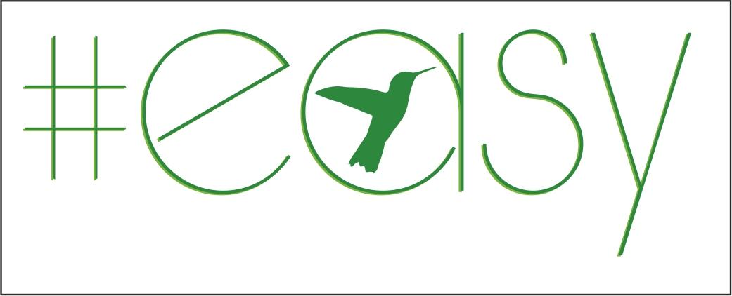 Разработка логотипа в виде хэштега #easy с зеленой колибри  фото f_6155d519ee924dfc.jpg