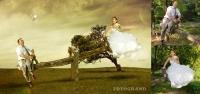 Коллаж - Стилизация свадебного фото