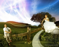 Свадебный коллаж - фотомонтаж