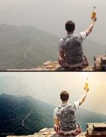 """На Великой китайской стене"""" (ретушь, стилизация)"""