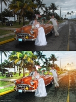 Закат на Кубе (ретушь)
