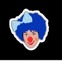 наклейка клоун