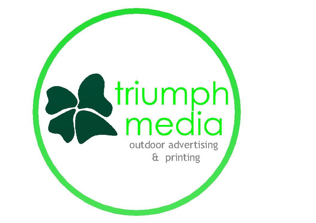 Разработка логотипа  TRIUMPH MEDIA с изображением клевера фото f_507301dd99fbb.jpg