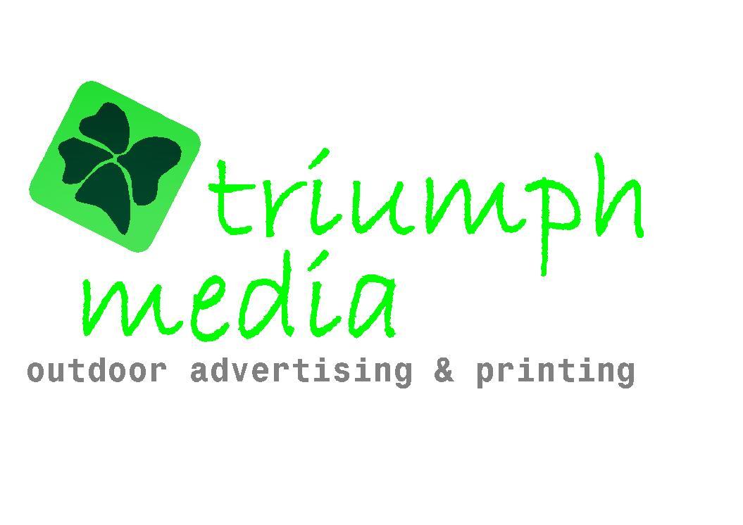 Разработка логотипа  TRIUMPH MEDIA с изображением клевера фото f_5073020676b2f.jpg