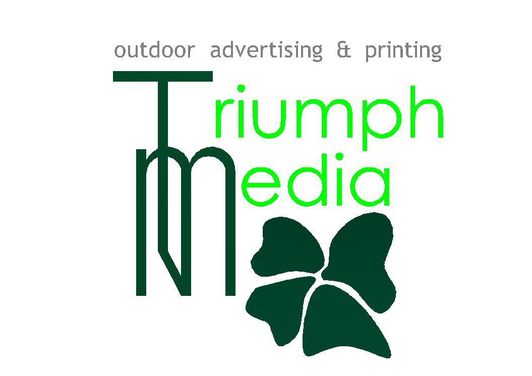 Разработка логотипа  TRIUMPH MEDIA с изображением клевера фото f_5073dc9e4ebf3.jpg