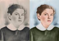 Колоризация старой фотографии, ретушь